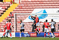 24th April 2021, Oakwell Stadium, Barnsley, Yorkshire, England; English Football League Championship Football, Barnsley FC versus Rotherham United; Carlton Morris of Barnsley scores in the 2nd minute to make it 1-0