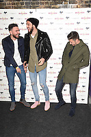 """Robert Snodgrass, Andy Carroll and Aaron Cresswell<br /> arrives for the """"Iron Men"""" premiere at the Mile End Genesis cinema, London.<br /> <br /> <br /> ©Ash Knotek  D3236  02/03/2017"""