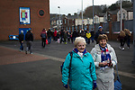 Blackburn Rovers 3 Shrewsbury Town 1, 14/01/2018. Ewood Park, League One. Fans walking towards the Blackburn End Stand before Blackburn Rovers played Shrewsbury Town in a Sky Bet League One fixture at Ewood Park. Both team were in the top three in the division at the start of the game. Blackburn won the match by 3 goals to 1, watched by a crowd of 13,579. Photo by Colin McPherson.