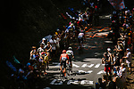 The breakaway group featuring Alessandro De Marchi (ITA) CCC Team, Thomas De Gendt (BEL) Lotto-Soudal and Niki Terpstra (NED) Total Direct Energie passes by during Stage 8 of the 2019 Tour de France running 200km from Macon to Saint-Etienne, France. 13th July 2019.<br /> Picture: ASO/Pauline Ballet   Cyclefile<br /> All photos usage must carry mandatory copyright credit (© Cyclefile   ASO/Pauline Ballet)