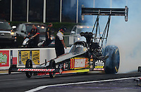 Apr. 27, 2012; Baytown, TX, USA: NHRA top fuel dragster driver Doug Kalitta during qualifying for the Spring Nationals at Royal Purple Raceway. Mandatory Credit: Mark J. Rebilas-