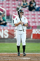 Gary Brown - 2010 Salem-Keizer Volcanoes - Brown, the Giants 1st round draft pick, is playing here against the Eugene Emeralds at Volcanoes Stadium in Keizer, OR - 09/03/2010.Photo by:  Bill Mitchell/Four Seam Images..