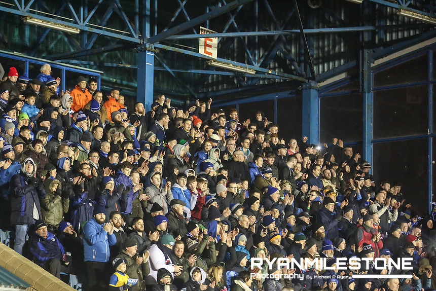 General view of Waterford fans during the SSE Airtricity League Premier Division game between Waterford FC and Derry City on Friday 16th February 2018 at the RSC Waterford. Photo By: Michael P Ryan