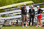 Rowing, Rowing Canada, woman's lightweight double, Lindsay Jennerich, Tracy Cameron, stroke, with Rowing Canada coach Al Morrow in a pre-race conversation, 2010 FISA World Rowing Championships, Lake Karapiro, Hamilton, New Zealand, semifinal, November 3, 2010, first place