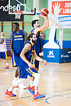 Players Ricky Rubio and Javier Beiran (r) during the training of Spanish National Team of Basketball 2019 . July 26, 2019. (ALTERPHOTOS/Francis González)