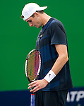SHANGHAI, CHINA - OCTOBER 12:  John Isner of USA reacts after loosing a point against Lukasz Kubot of Poalnd during day two of the 2010 Shanghai Rolex Masters at the Shanghai Qi Zhong Tennis Center on October 12, 2010 in Shanghai, China.  (Photo by Victor Fraile/The Power of Sport Images) *** Local Caption *** John Isner