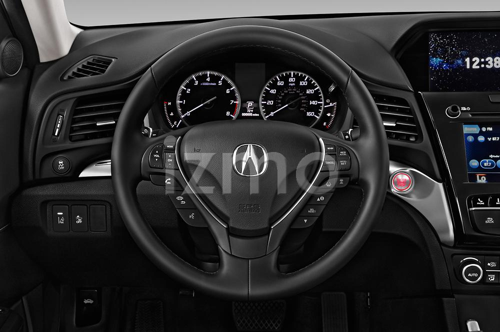 Steering wheel view of a 2019 Acura ILX Premium 4 Door Sedan