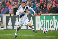 Bridgeview, IL - Saturday April 14, 2018: Sebastian Lletget during a regular season Major League Soccer (MLS) match between the Chicago Fire and the LA Galaxy at Toyota Park.  The LA Galaxy defeated the Chicago Fire by the score of 1-0.