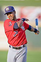 Oklahoma CIty OF Willy Taveras on Tuesday August 24th, 2010 at the Dell Diamond in Round Rock, Texas.  (Photo by Andrew Woolley / Four Seam Images)