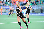 The Hague, Netherlands, June 05: Jordan Grant #27 of New Zealand in action during the field hockey group match (Women - Group A) between New Zealand and The Netherlands on June 5, 2014 during the World Cup 2014 at Kyocera Stadium in The Hague, Netherlands. Final score 0-2 (0-2) (Photo by Dirk Markgraf / www.265-images.com) *** Local caption ***