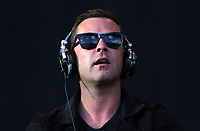 Llanelli, UK. Saturday 03 June 2017<br /> Support act DJ Scott Mills on stage