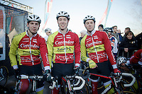 3 brothers starting in the same race: Diether, Laurens & Hendrik Sweeck (BEL/Corendon-Kwadro)<br /> <br /> CX Leuven Soudal Classic 2015