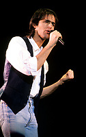 Montreal (Qc) CANADA - 1987 File Photo -<br /> <br /> Jean-Jacques Goldman in concert, Le Spectrum, Montreal.<br /> <br /> Jean-Jacques Goldman (born on October 11, 1951) is a French singer and songwriter. He is hugely popular in the French-speaking world, and in 2003 was the second-highest-grossing French pop singer, after Johnny Hallyday.<br /> <br /> -Photo (c)  Images Distribution