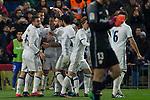 Real Madrid's Cristiano Ronaldo Lucas Vazquez  Garet Bale Mateo Kovacic during the match of La Liga between Atletico de Madrid and Real Madrid at Vicente Calderon Stadium  in Madrid , Spain. November 19, 2016. (ALTERPHOTOS/Rodrigo Jimenez)