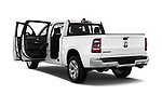 Car images close up view of a 2019 Ram 1500 Crew Cab Laramie Short Box 4x2 4 Door Pick Up doors