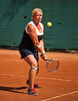 Netherlands, Amstelveen, August 22, 2015, Tennis,  National Veteran Championships, NVK, TV de Kegel,  Lady's 55+, Josephine van der Stroom<br /> Photo: Tennisimages/Henk Koster