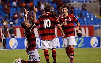rIO DE JANEIRO, RJ, 21 DE JANEIRO 2012 - CAMPEONATO CARIOCA - Flamengo X Bonsucesso - Jael (Flamengo) comemora seu primeiro gola na partida, válida pela primeira rodada do Campeonato Carioca de Futebol 2012, entre Flamengo e Bonsucesso no estádio Engenhão, no RIo de Janeiro. (FOTO: MAURO PIMENTEL - NEWS FREE).