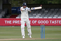 Scott Borthwick hits 4 runs for Durham during Essex CCC vs Durham CCC, LV Insurance County Championship Group 1 Cricket at The Cloudfm County Ground on 15th April 2021