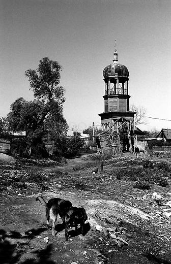 ROMANIA, Delta of Danube, Mila 23, July 2001..The abandoned Orthox lipoven church..ROUMANIE, Delta du Danube, Mila 23, July 2001..Eglise orthodoxe lipovene abandonnée..© Bruno Cogez