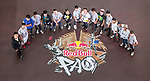 Athletes poses for a group photo prior the Red Bull PAO 2015 at the National Taiwan Science Education Centre in Taipei, Taiwan. Photo by Victor Fraile / Power Sport Images