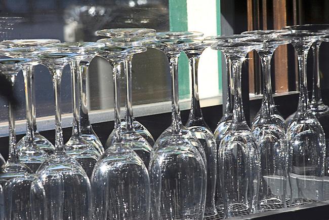 Wine Glasses, Como Restaurant, Las Vegas, Nevada