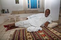 Nigerien Tuareg Silversmith Adam Zidia, from Agadez, Niger.  Biannual Arts Festival, Goree Island, Senegal.