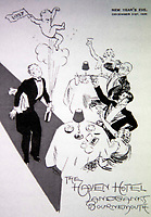 BNPS.co.uk (01202 558833)<br /> Pic: BNPS<br /> <br /> Poster for a New Year's Eve party 1936.<br /> <br /> Over 6,200 letters of objection have been lodged against controversial plans to replace a historic hotel with a 'soulless' block of flats at a millionaire's playground.<br /> <br /> The well-heeled residents of Sandbanks are up in arms about the £250million development which would see the Haven Hotel at the entrance to Poole Harbour in Dorset bulldozed.<br /> <br /> The 141-year-old building is where engineer Guglielmo Marconi established the world's first wireless communications. Under the plans, it would be replaced with a six-storey block of 119 luxury apartments.