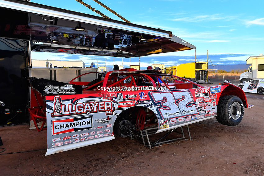 Jan 7, 2017; 5:10:58 PM; QUEEN CREEK, AZ., USA; 11th Annual Keyser Manufacturing Wild West Shootout at Arizona Speedway presented by O'Reilly Auto Parts. Mandatory Credit: (thesportswire.net)