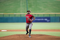 AZL Diamondbacks starting pitcher Wilfry Cruz (11) delivers a pitch to the plate against the AZL Cubs on August 11, 2017 at Sloan Park in Mesa, Arizona. AZL Cubs defeated the AZL Diamondbacks 7-3. (Zachary Lucy/Four Seam Images)