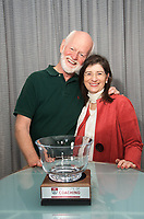 Marshall Goldsmith and Carol Kauffman at Coaching in Leadership and Healthcare Conference by the Institute of Coaching and Harvard Medical School at the Renaissance Hotel Boston MA October 13 and 14, 2017