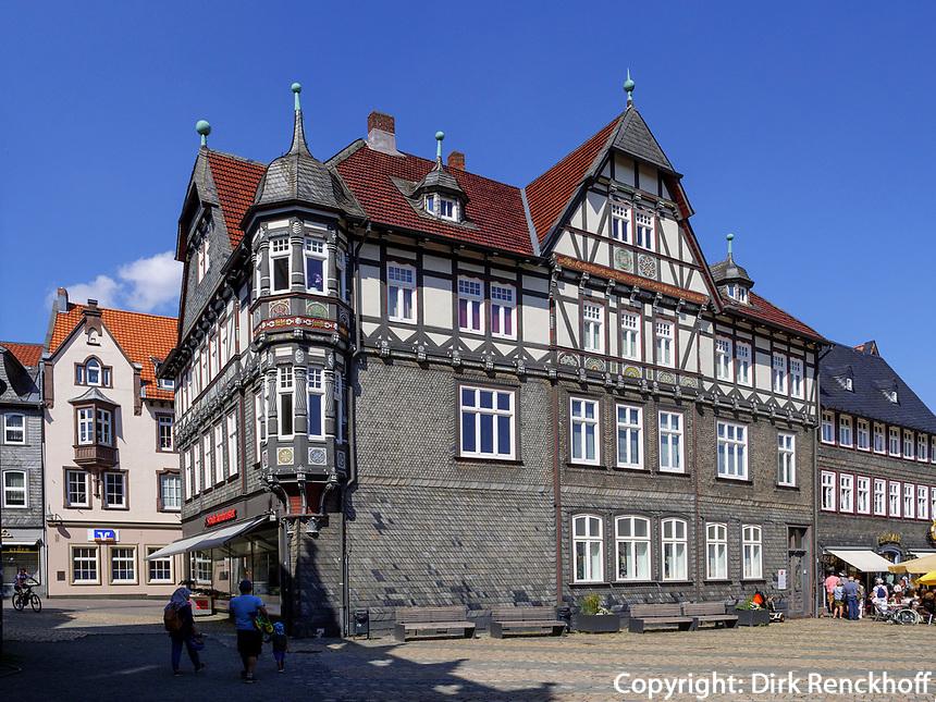 Fachwerkhaus Markt 12-11, Goslar, Niedersachsen, Deutschland, Europa, UNESCO-Weltkulturerbe<br /> Halftimbered house Markt 12-11, Goslar, Lower Saxony,, Germany, Europe, UNESCO Heritage Site