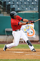 New Britain Rock Cats infielder Reynaldo Rodriguez (16) during game against the Binghamton Mets at New Britain Stadium on May 23, 2013 in New Britain, Connecticut.  New Britain defeated Binghamton 1-0.  Tomasso DeRosa/Four Seam Images