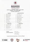 Official teamsheet for Rangers v East Stirlingshire on 2nd March 2013