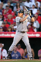 New York Yankees first baseman Mark Teixeira #25 bats against the Los Angeles Angels at Angel Stadium on June 4, 2011 in Anaheim,California. Larry Goren/Four Seam Images