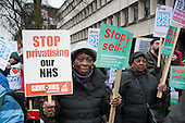 Save Whittington Hospital Campaign march and rally, Islington, London.