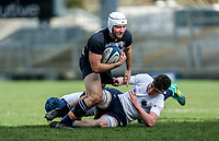 Wednesday 4th March 2020 | WHS vs MCB<br /> <br /> Ben Carson is tackled by Peter O'Hagan during the Ulster Schools' Cup Semi-Final between Wallace High School and MCB at Kingspan Stadium, Ravenhill Park, Belfast, Northern Ireland. Photo by John Dickson / DICKSONDIGITAL