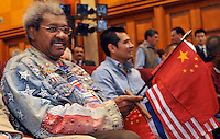 Boxing promoter Don King at the World Boxing Council annual convention in Chengdu, China. King is bullish in his persuit of a Chinese boxing star to promote...PHOTO BY SINOPIX