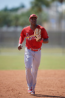 St. Louis Cardinals Austin Wilson (48) during a minor league Spring Training game against the New York Mets on March 28, 2017 at the Roger Dean Stadium Complex in Jupiter, Florida.  (Mike Janes/Four Seam Images)