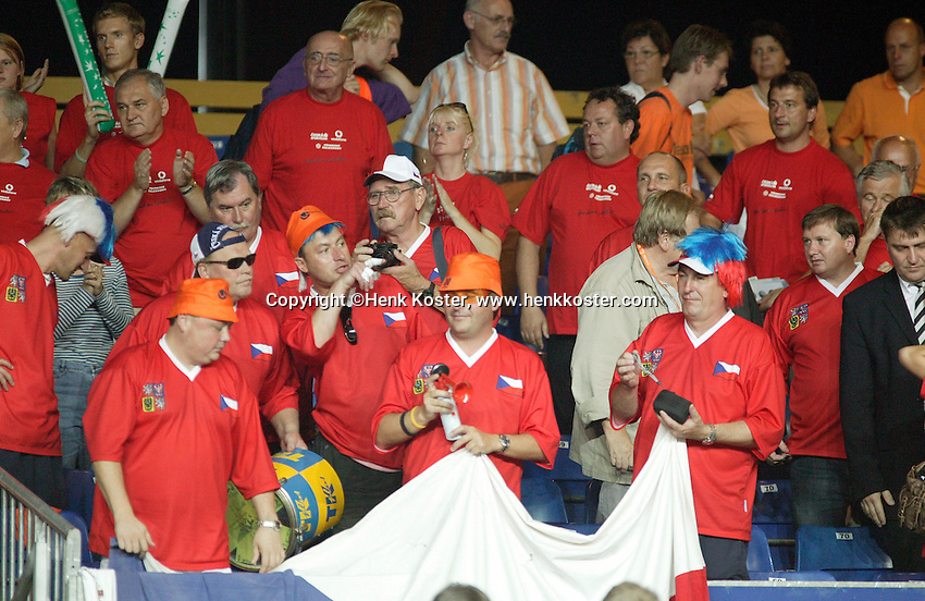 22-9-06,Leiden, Daviscup Netherlands-Tsjech Republic,Chech supporters