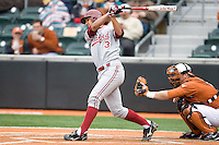 Kenny Diekroeger of the Stanford Cardinal against the Texas Longhorns at  UFCU Disch-Falk Field in Austin, Texas on Friday February 26th, 2100.  (Photo by Andrew Woolley / Four Seam Images)