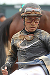 HOT SPRINGS, AR - JANUARY 15: Jockey Luis Quinonez after finishing 4th, aboard Sydney Freeman, in the 7th race at Oaklawn Park on January 15, 2018 in Hot Springs, Arkansas. (Photo by Justin Manning/Eclipse Sportswire/Getty Images)