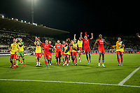 3rd October 2021; Franchi Stadium, Florence, Italy; Serie A football, Fiorentina versus Napoli : Napoli team celebrate their 1-2 win after the game
