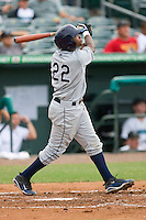 Tim Beckham #22 of the Charlotte Stone Crabs follows through on his swing against the Jupiter Hammerheads at Roger Dean Stadium June 15, 2010, in Jupiter, Florida.  Photo by Brian Westerholt /  Seam Images