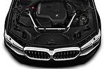 Car Stock 2021 BMW 5-Series 530i-Sport 4 Door Sedan Engine  high angle detail view