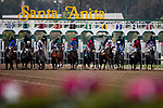January 03, 2021: Horses break from the starting gate at Santa Anita Park in Arcadia, California on January 3, 2021. Evers/Eclipse Sportswire/CSM