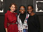 Sarah Stern, Ngozi Anyanwu and Awoye Timpo attends the Vineyard Theatre Paula Vogel Playwriting Award honoring Jeremy O. Harris on October 12, 2018 at the National Arts Club in New York City.