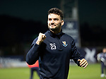 Dundee v St Johnstone…29.12.18…   Dens Park    SPFL<br />Tony Watt salutes the saints fans at full time<br />Picture by Graeme Hart. <br />Copyright Perthshire Picture Agency<br />Tel: 01738 623350  Mobile: 07990 594431