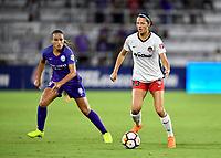 Orlando, FL - Saturday July 07, 2018: Monica Hickman Alves, Ashley Hatch during the first half of a regular season National Women's Soccer League (NWSL) match between the Orlando Pride and the Washington Spirit at Orlando City Stadium.