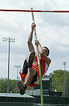 New Britain, CT 15- June 2011-061511JH02- Matt Quatrano from Watertown competes at the pole vault during the boy's decathlon Wednesday afternoon in Willow Brook Park in New Britain.    Junfu Han Republican-American