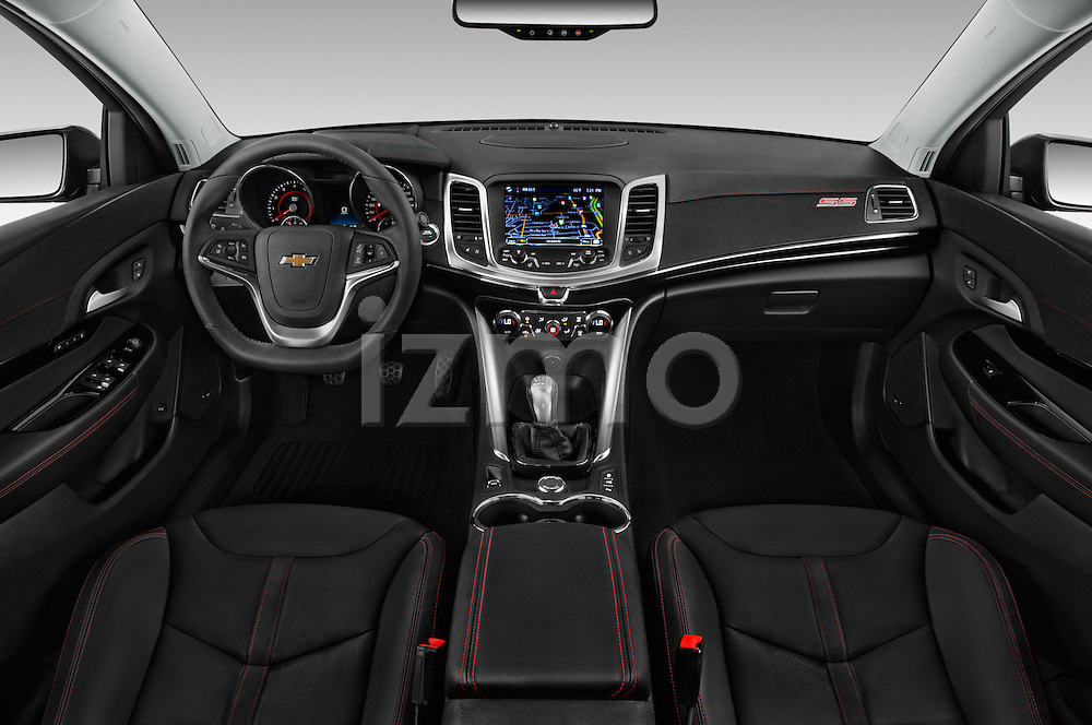 Stock photo of straight dashboard view of 2017 Chevrolet SS 6.2 4 Door Sedan Dashboard